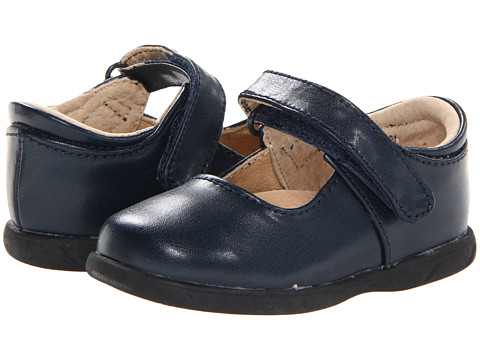 FootMates - Lizzie (Infant/Toddler) (Navy) Girls Shoes
