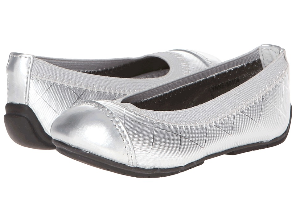 FootMates - Lynne (Toddler/Little Kid) (Silver Woven) Girls Shoes