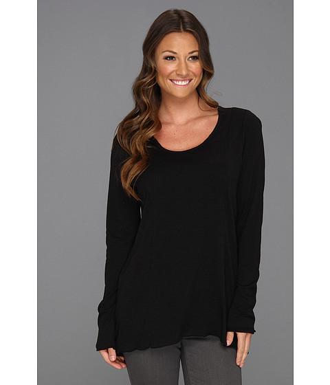 Miraclebody Jeans - Tuxedo Top w/ Body-Shaping Inner Shell (Black) Women