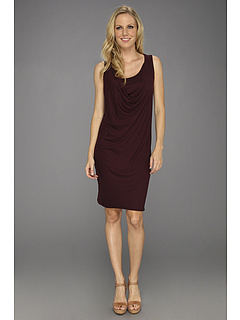 SALE! $33.75 - Save $101 on Three Dots Sleeveless Asymmetrical Draped Dress (Wine Country) Apparel - 75.00% OFF $135.00