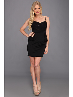 SALE! $29.99 - Save $49 on Type Z Lighla Lace Peplum Dress (Black) Apparel - 62.04% OFF $79.00