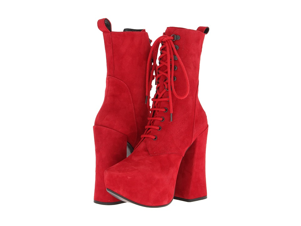 Vivienne Westwood - Gold Label Boot (Red Suede) Women's Dress Lace-up Boots