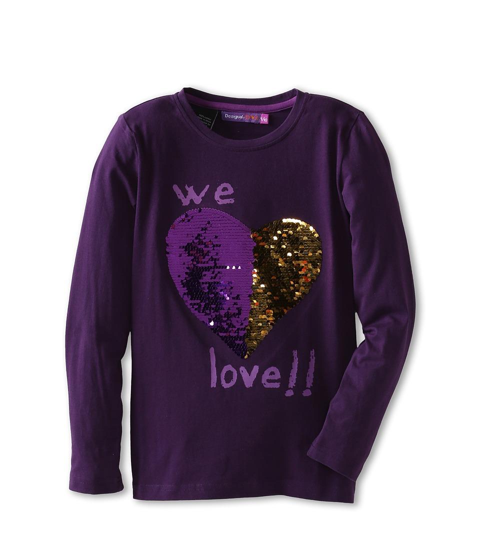 Desigual Kids - Abril Tee (Little Kids/Big Kids) (Morado Ingles) Girl's T Shirt