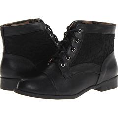 Jellypop Pinkie (Black Black Smooth) Footwear