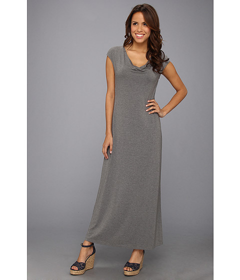 Tommy Bahama - Tambour Cowl Long Dress (Gun Metal Heather) Women's Dress