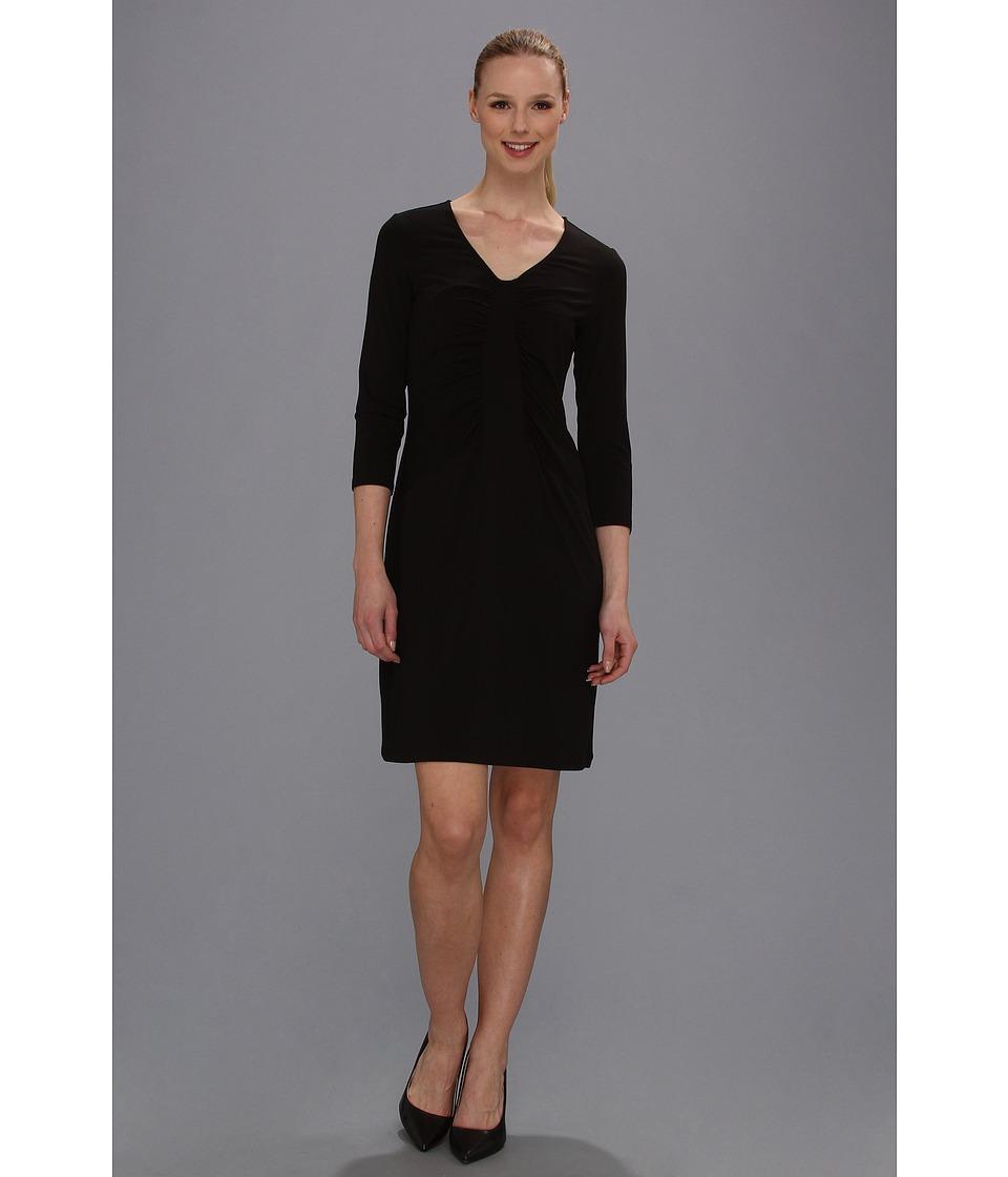 Tommy Bahama Tambour Panel Shirred Dress Womens Dress (Black)