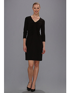 SALE! $61.99 - Save $76 on Tommy Bahama Tambour Panel Shirred Dress (Black) Apparel - 55.08% OFF $138.00