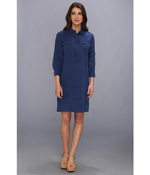 Tommy Bahama - Two Palms Patched Pocket Dress (Blueberry) Women