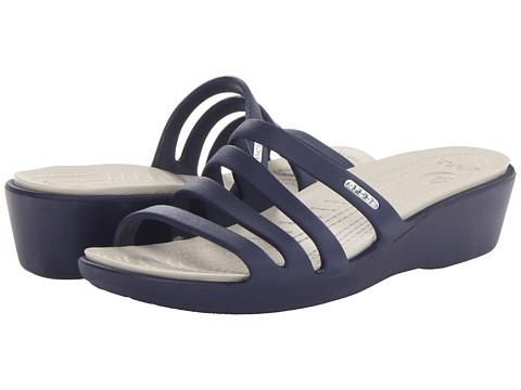Crocs - Rhonda Wedge Sandal (Natical Navy/Stucco) Women