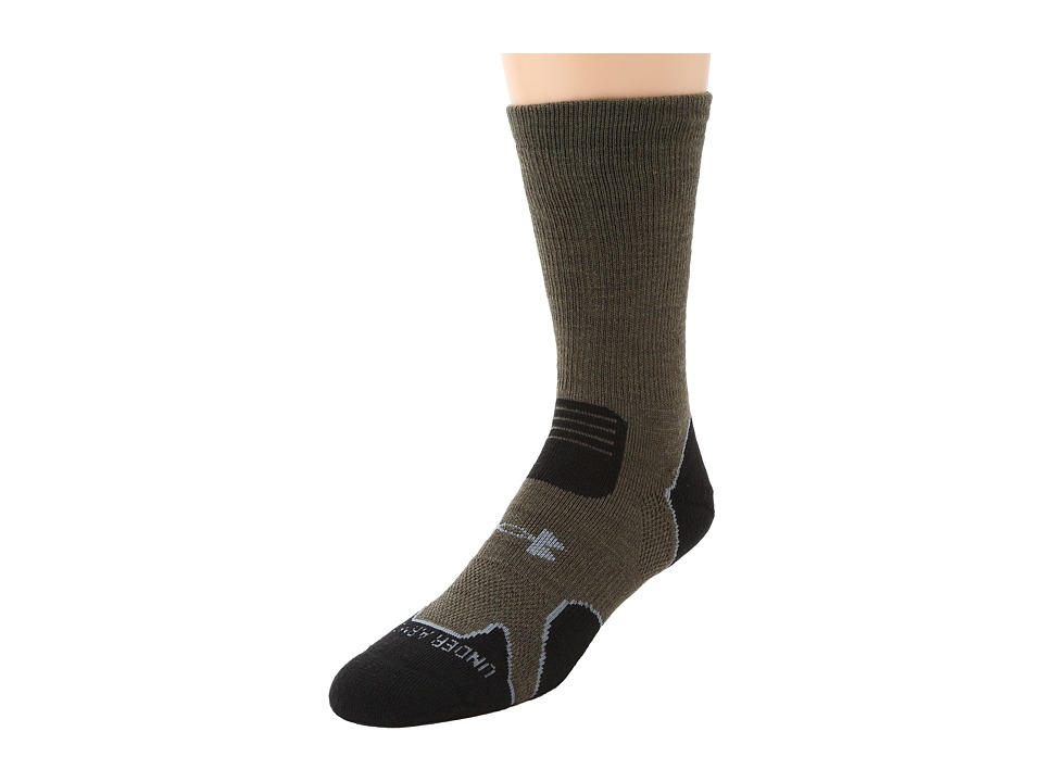 Under Armour - Heavy Cushion Boot (Sage/Grey) Men's Crew Cut Socks Shoes