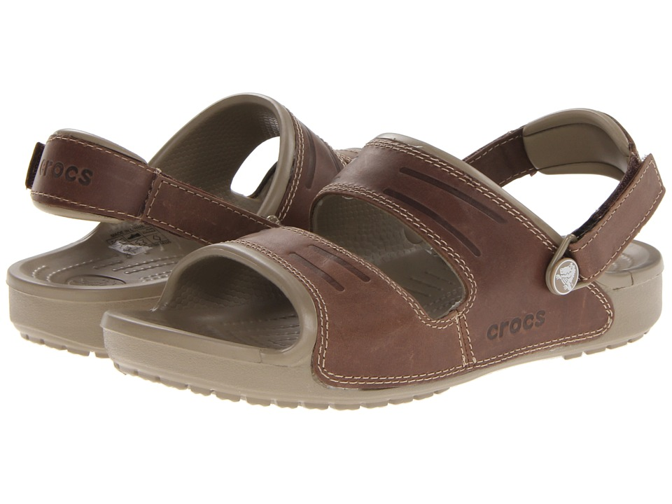 Crocs - Yukon Two Strap Sandal (Khaki/Espresso) Men's Sandals