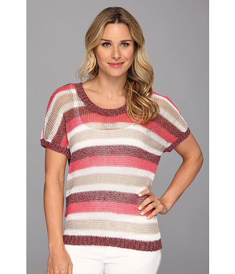 Tommy Bahama - Crespi Stripe Pullover (Cherry Pink) Women's Sweater