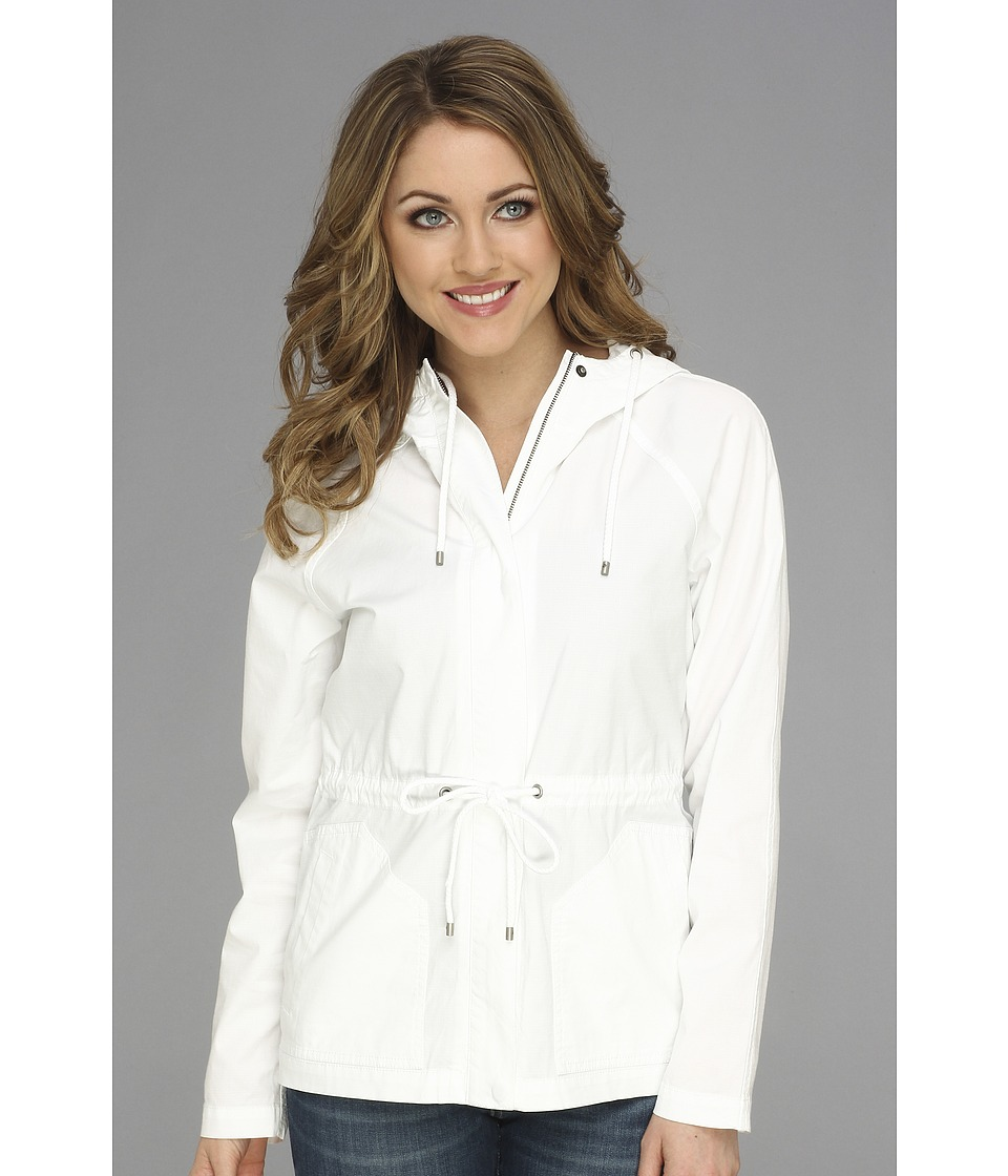 Tommy Bahama - Marlo Ripstop Hooded Jacket (White) Women's Coat