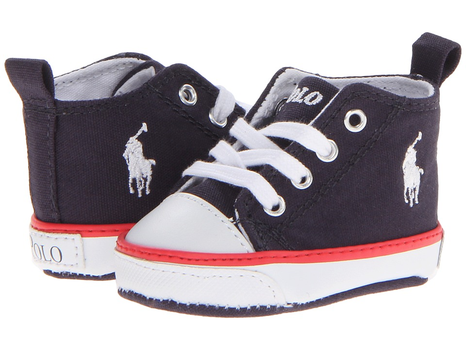 Polo Ralph Lauren Kids - Harbour Hi (Infant/Toddler) (Navy Canvas/Red) Boys Shoes