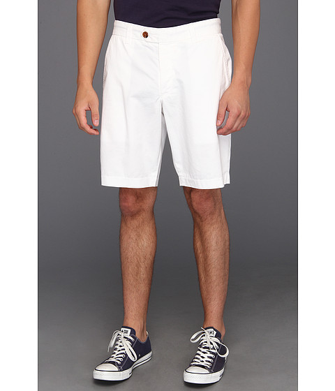 French Connection - Peached Cotton Short (Optic White) Men's Shorts