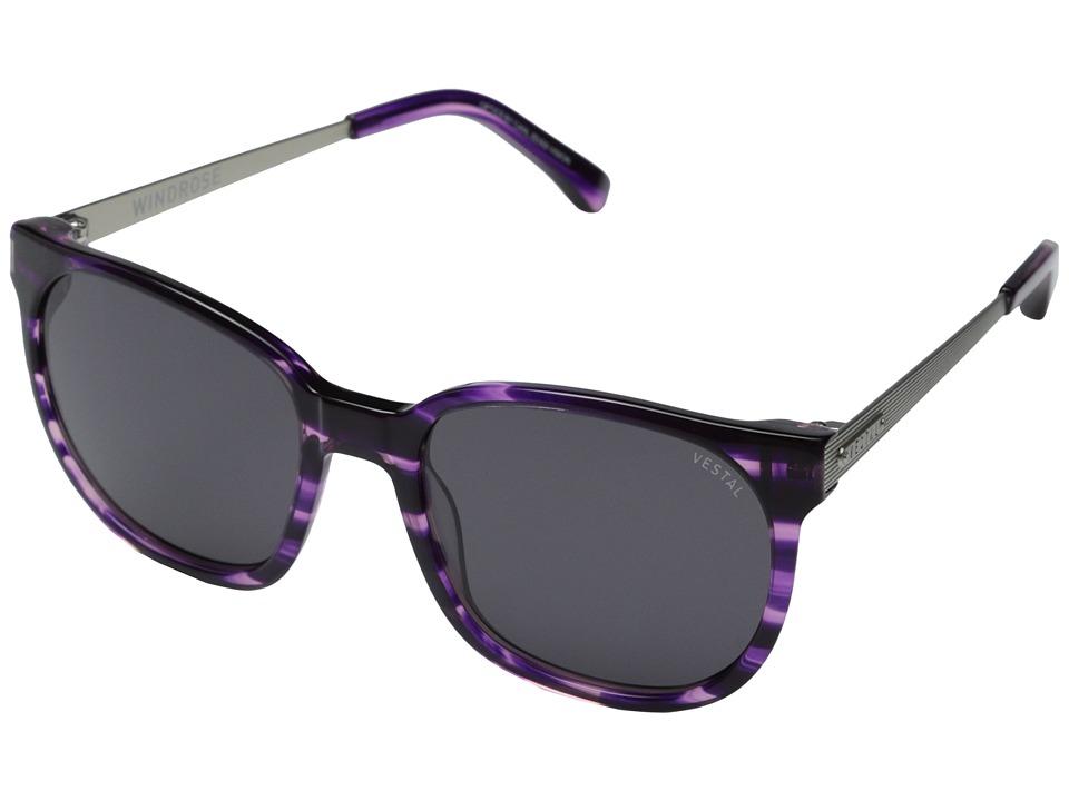 Vestal - Windrose (Striped Purple/Grey/Silver) Fashion Sunglasses