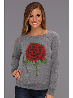 SALE! $24.99 - Save $27 on Obey Death Rose Vandal Crew Fleece (Heather Grey) Apparel - 51.94% OFF $52.00
