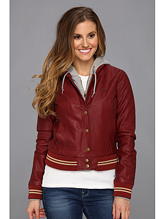 SALE! $44.99 - Save $51 on Obey Varsity Lover Jacket (Burgandy) Apparel - 53.14% OFF $96.00