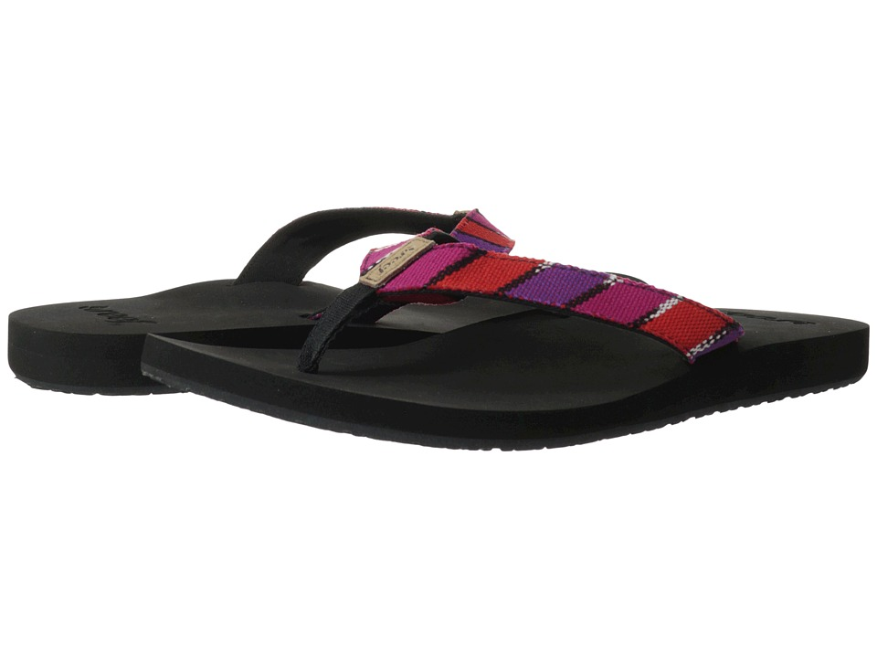 Reef - Guatemalan Love (Black/Hot Pink) Women's Shoes