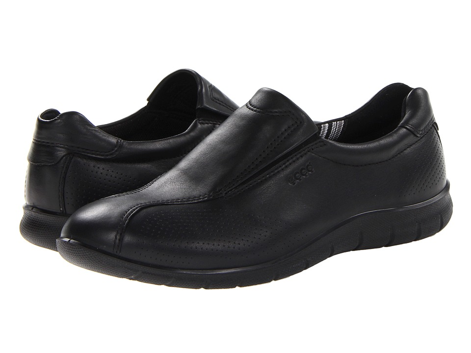ECCO - Babett Slip On (Black Feather) Women's Shoes
