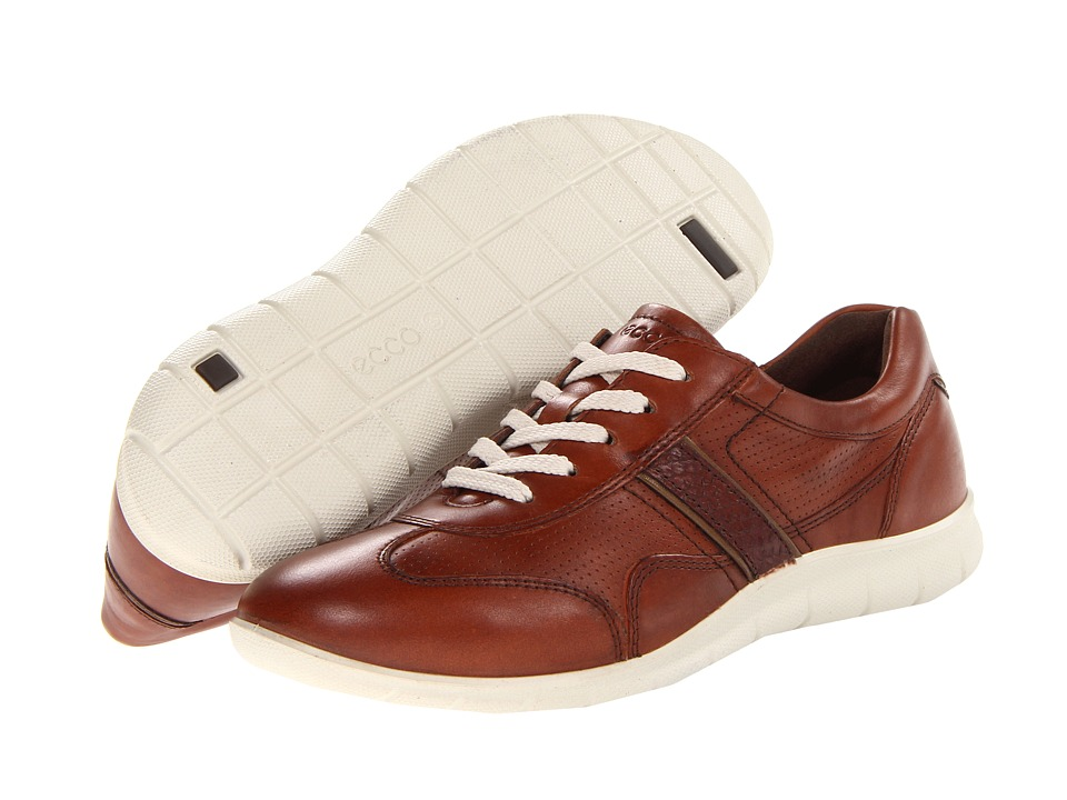 ECCO - Babett Premium Tie (Mahogany/Gold Antic/Walnut) Women's Shoes