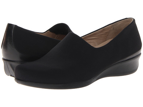 ECCO - Abelone Stretch Slip-On (Black/Black Soft Butter Shing Textile) Women's Slip on Shoes