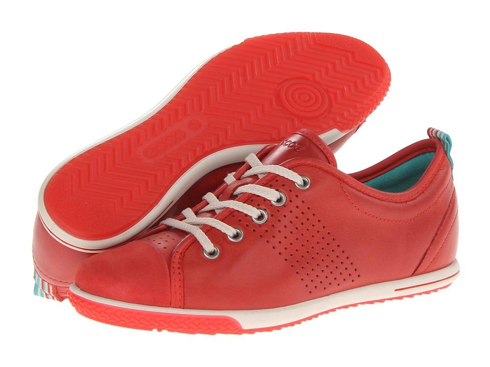ECCO - Spin Light Sneaker (Red Alert/Red Alert Basalt/Firefly) Women