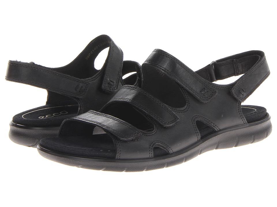 ECCO - Babette Sandal 3-Strap (Black Feather) Women's Shoes