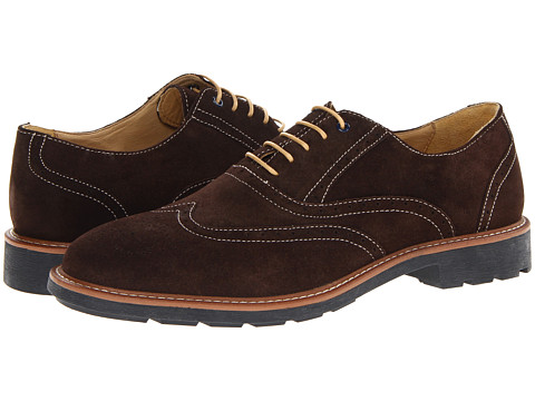 Steptronic - Laser N (Brown Suede) Men's Lace Up Wing Tip Shoes