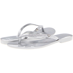 SALE! $16.99 - Save $12 on Mel by Melissa Mel Honey II (Silver Glitter) Footwear - 41.41% OFF $29.00