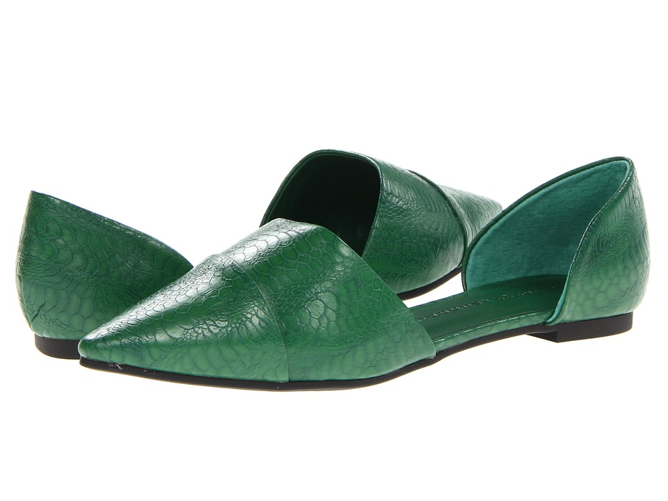 Chinese Laundry - Easy Does It (Forest Green Shine) Women's Slip on Shoes