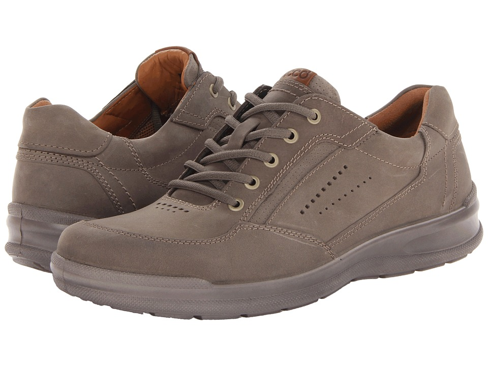 ECCO - Remote (Warm Grey/Walnut Oil Nubuck/Aztec) Men's Lace up casual Shoes