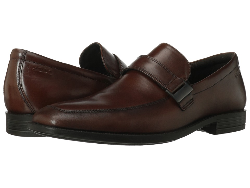 ECCO - Edinburgh Buckle Slip On (Mink Kalahari) Men's Shoes