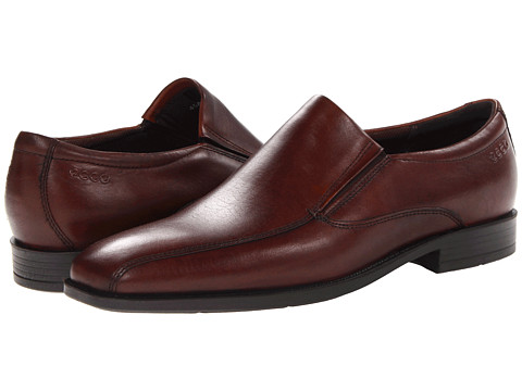 ECCO - Edinburgh Bike Toe Slip On (Mink Kalahari) Men's Shoes