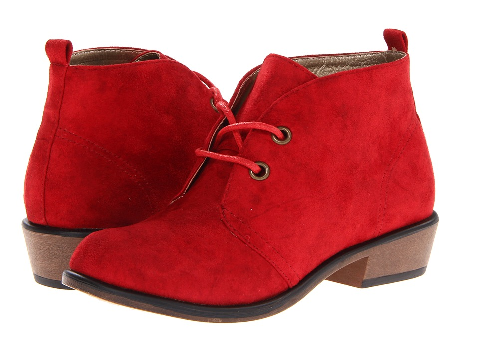 Dirty Laundry - Pitch (Chili Red Suede) Women