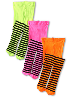 SALE! $11.99 - Save $8 on Jefferies Socks Stripe Tights (Toddler Little Kid Big Kid) (Lime Black Orange Black Hot Pink Black) Hosiery - 40.05% OFF $20.00