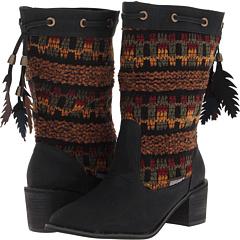 MUK LUKS Carla (Black) Footwear