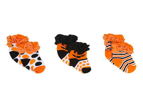 Jefferies Socks - Ruffle Halloween 3-Pack Gift Box (Infant) (Halloween) Girls Shoes