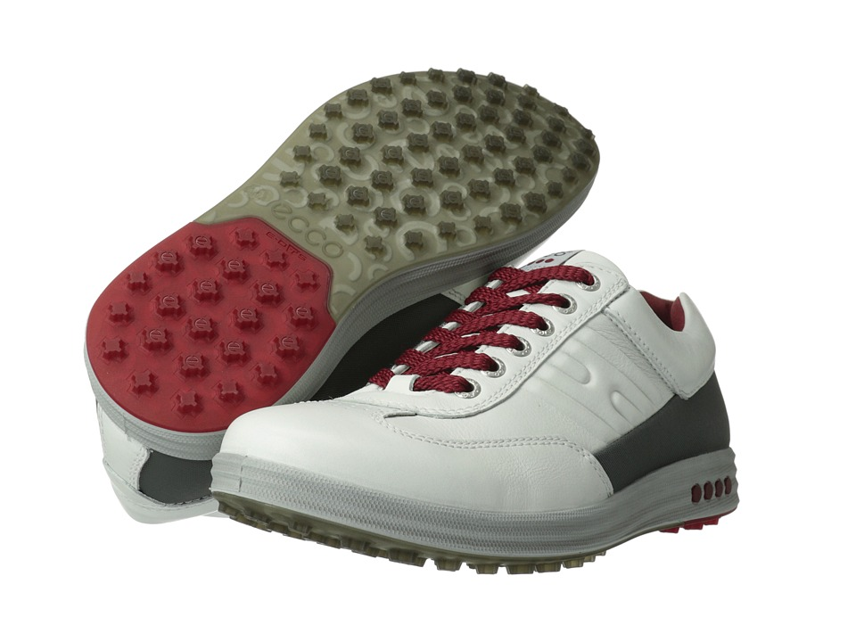 ECCO Golf - Street EVO One (White/Dark Shadow Lexi/Evo) Men's Golf Shoes