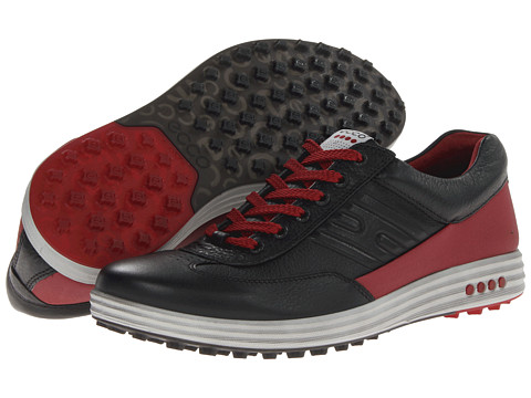 ECCO Golf - Street EVO One (Black/Port Lexi/Evo) Men's Golf Shoes
