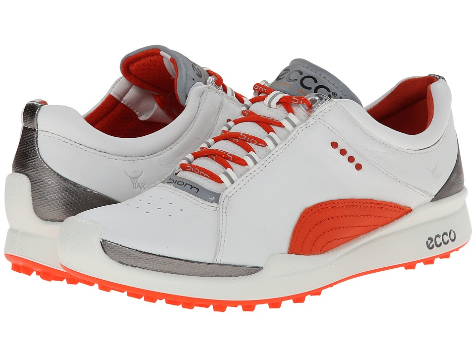 ECCO Golf - Biom Golf Hybrid (White/Fire Biom Yak Ultimate Runners) Women's Golf Shoes