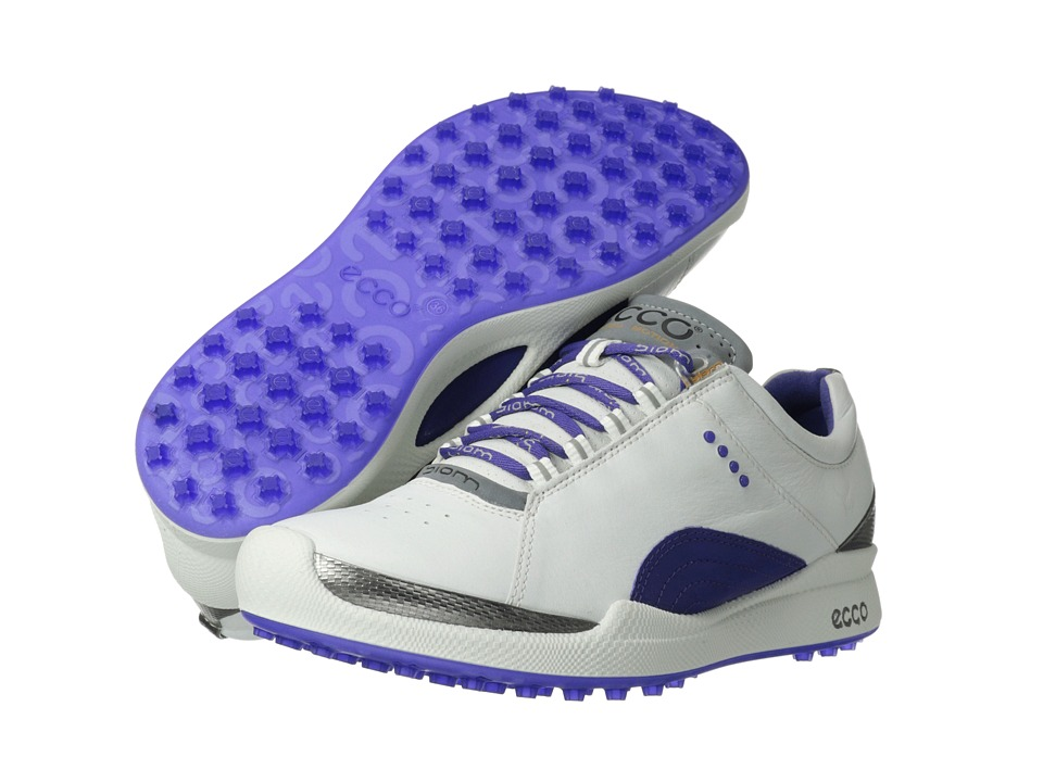 ECCO Golf - Biom Golf Hybrid (White/Iris Biom Yak Ultimate Runners) Women's Golf Shoes