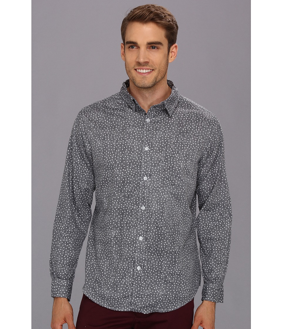 Type Z - Carson Button-Up (Black) Men's Long Sleeve Button Up