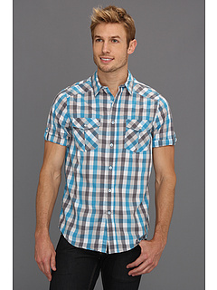 SALE! $16.99 - Save $28 on Type Z Wyatt Button Up Shirt (Turquoise) Apparel - 62.24% OFF $45.00