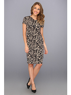 SALE! $39.99 - Save $59 on Vince Camuto Rouched Dress (Rich Black) Apparel - 59.61% OFF $99.00