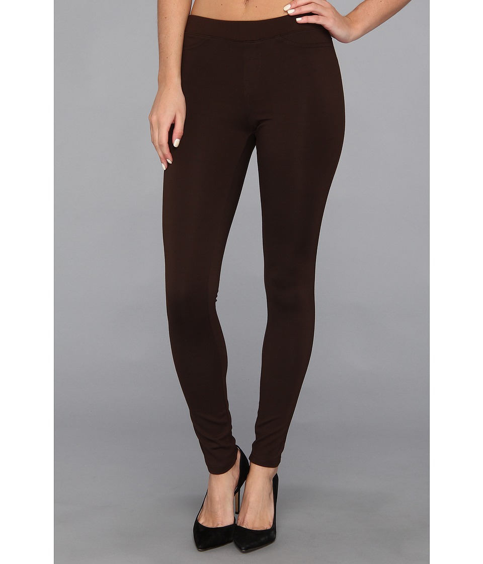 HUE - Ponte Double-Knit Leggings (Espresso) Women's Casual Pants