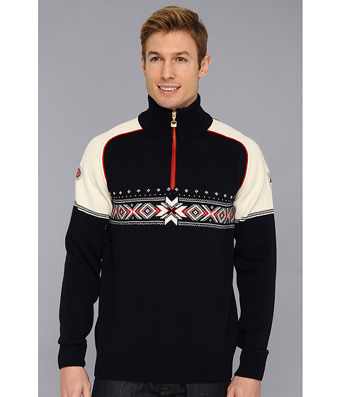 Dale of Norway - Kuppern Masculine (C-Navy/Off White/Raspberry) Men's Sweater
