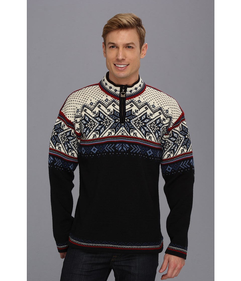 Dale of Norway - Vail (C-Midnight Navy/Red Rose/Off White) Men's Sweater