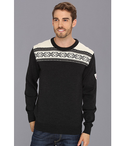 Dale of Norway - Hemsedal Masculine (E-Dark Charcoal/Off White) Men's Sweater