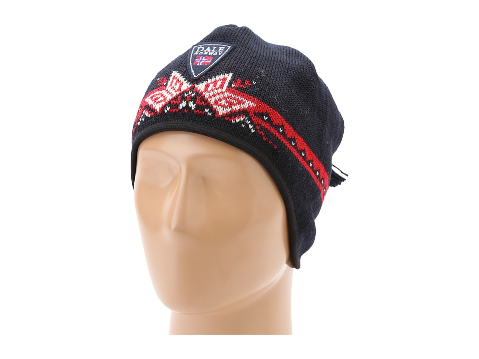 Dale of Norway - Weatherproof Hat (T-Midnight Navy/Raspberry/Cream) Snow Hats